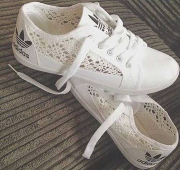 adidas basket dentelle femme