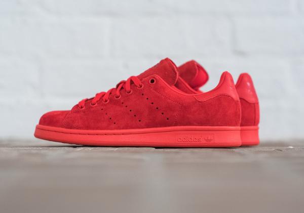 adidas stan smith suede rouge une vente de liquidation de