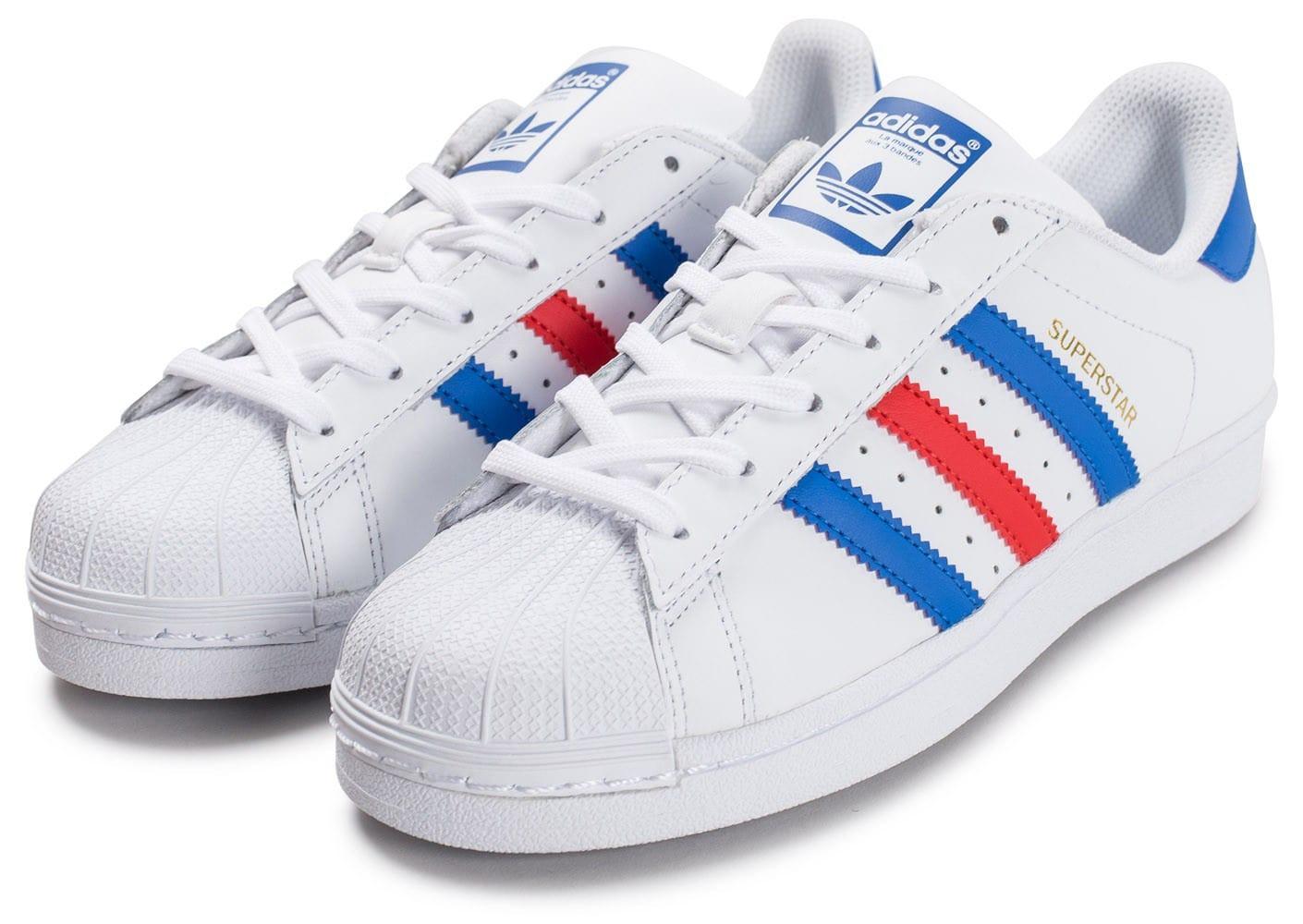 adidas basket bleu blanc rouge
