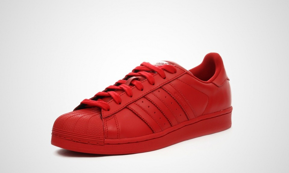 adidas superstar femme rouge