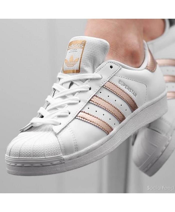 Adidas Prix Liquidation Vente Superstar Une De Pink Gold Bas rdBoxCe
