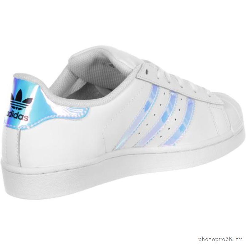adidas superstar w chaussures blanc argent