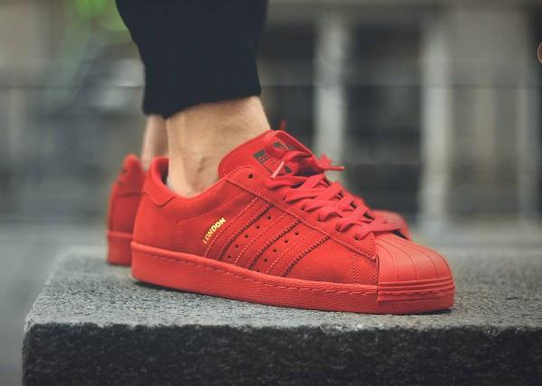 adidas superstar rouge et noir