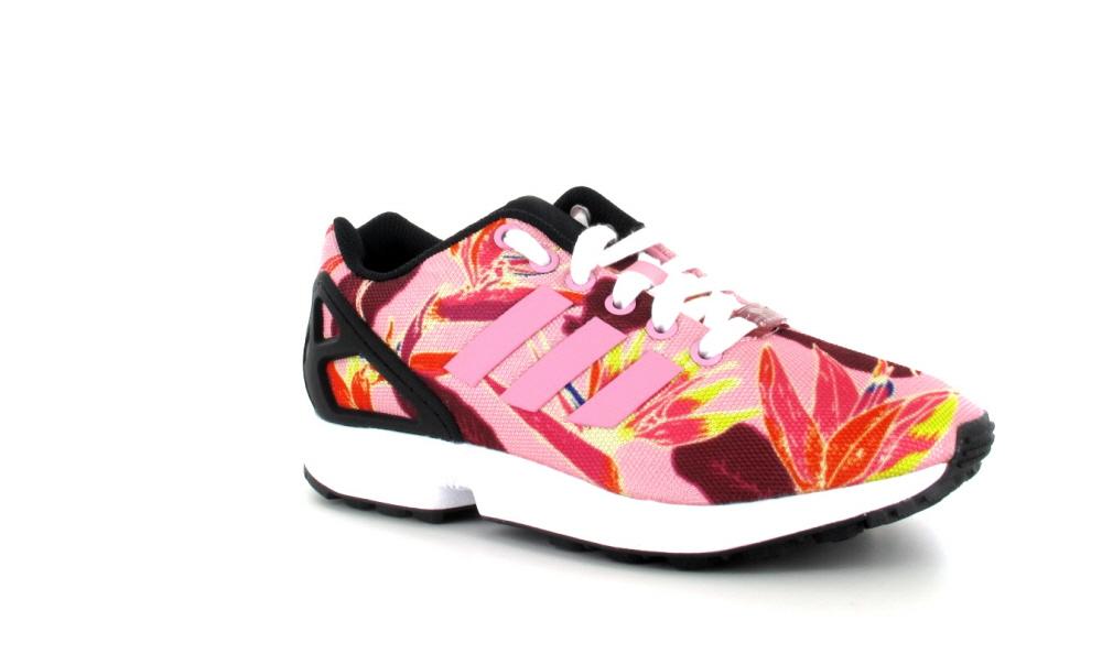 adidas zx flux fleur rose une vente de liquidation de prix