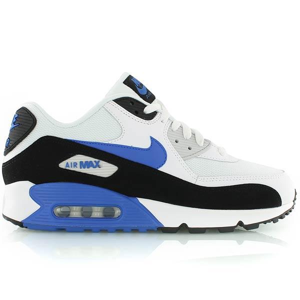 air max 90 blanche et bleu