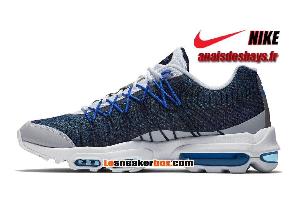 Nike Air Max 95 Ultra Jacquard Bleu Marine Foncé Blanc Bleu